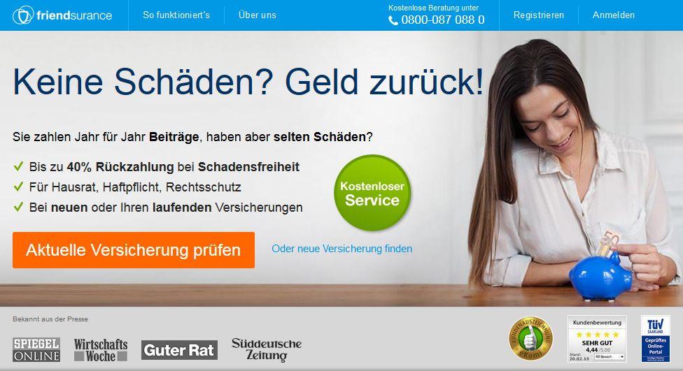 Friendsurance Gutschein