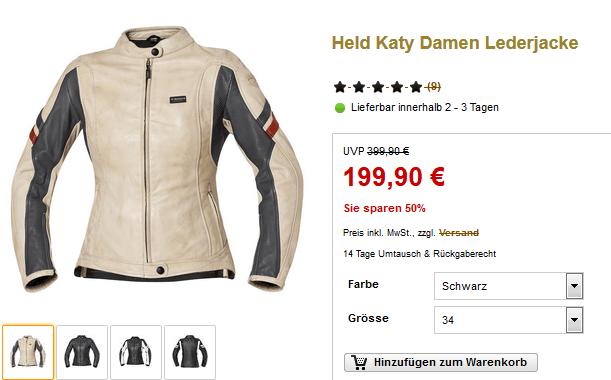 50% Rabatt auf Held Katy Damen Lederjacke