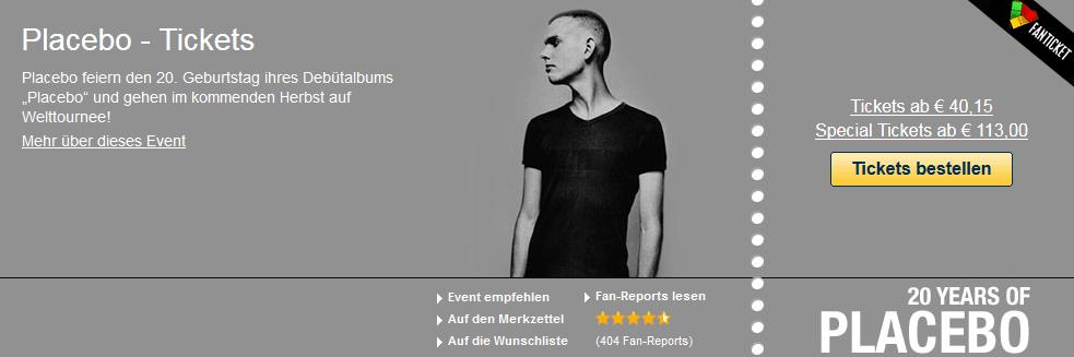 """Placebo feiern den 20. Geburtstag ihres Debütalbums """"Placebo"""" und Tickets"""