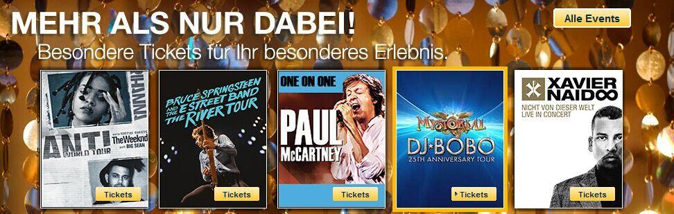 Besonders Tickets für Ihr besonderes Erlebnis, ab nur 69 Euro