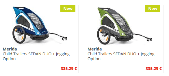 Merida Kinderanhänger SEDAN DUO + Jogging Option nur 335.29 €
