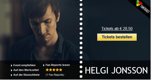 Wählen Sie jetzt das Datum der Tickets für Helgi Jonsson