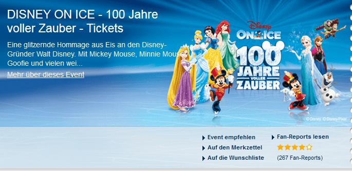 Die Ticktes von DISNEY ON ICE - 100 Jahre voller Zauber ab 30.9 Euro