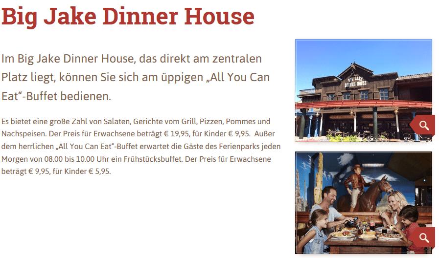 Big Jake Dinner House gibt Ihnen Gerichte vom Grill, Pizzen, Pommes und Nachspeisen